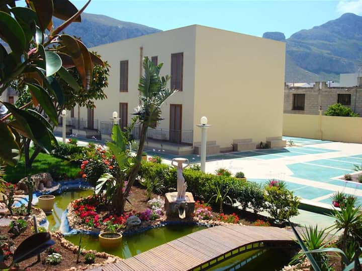 Apartment with one bedroom in San Vito Lo Capo, with shared pool, balcony and WiFi - 400 m from the beach
