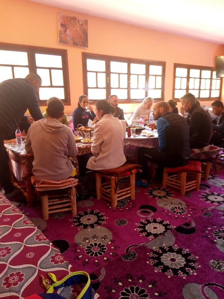 My group having lunch