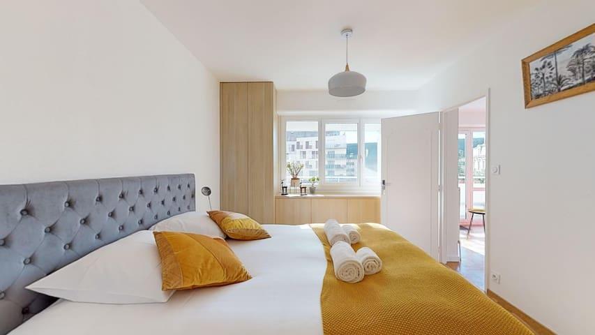 Chambre double avec lit de 160x200