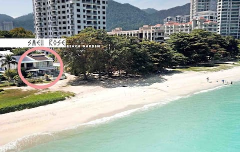 Geruch Rose Beach Garten offenes Tor ist Strand