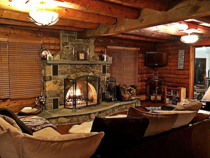 Pocono Log Cabin Retreat!