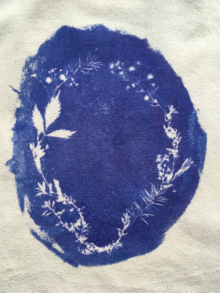 detail of a botanic wreath