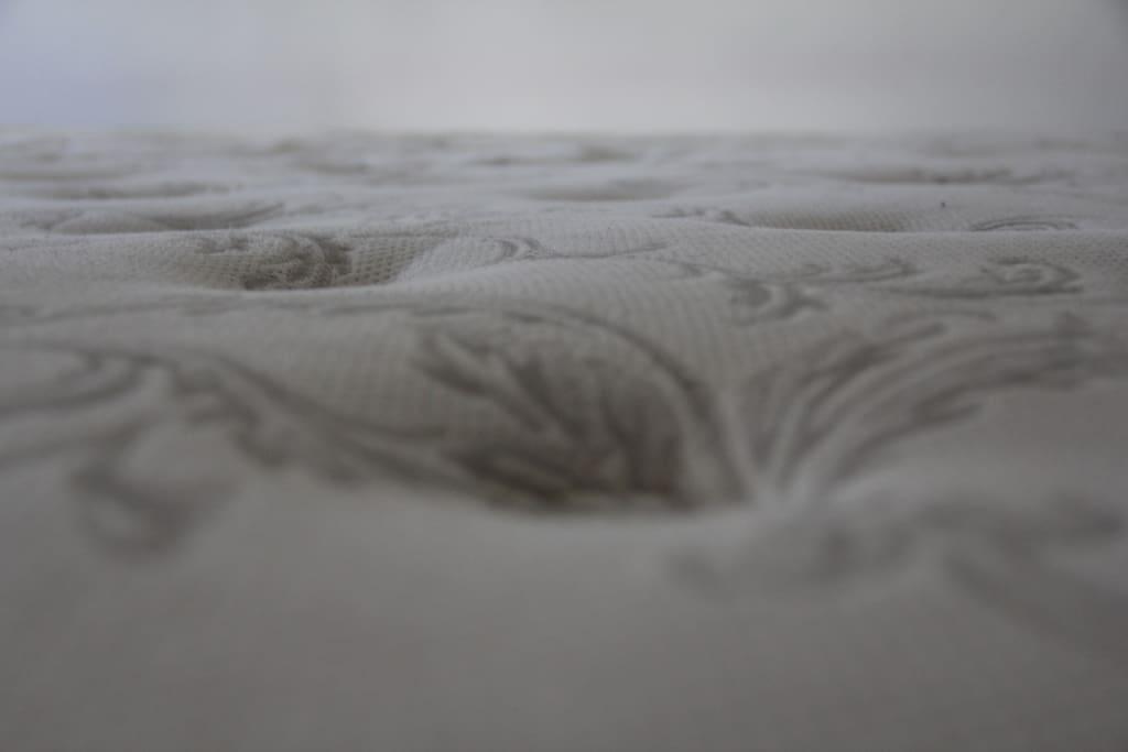 The mattress' surface