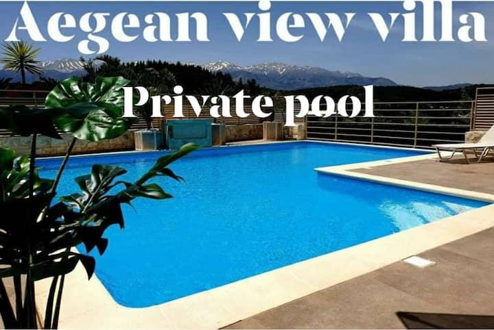 Aegean view Private Luxury Villa Aspro  Almyrida.