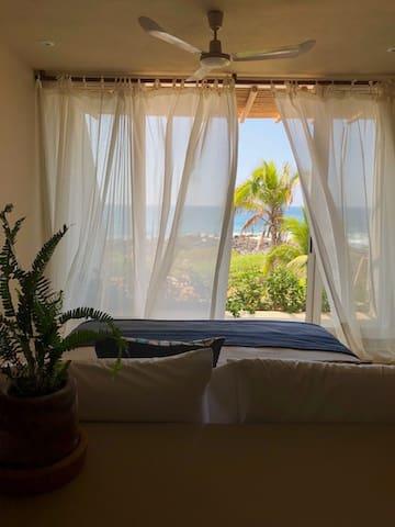 Master Bed - with patio facing ocean