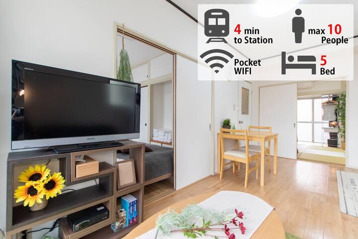 Free Wifi!Near Shinjuku 10ppl stay#XX02