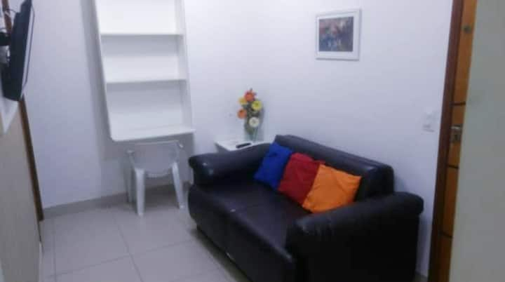 Centro Rio(Cinelândia)Qt/Sl-ar,tv,wifi,lavad,metrô