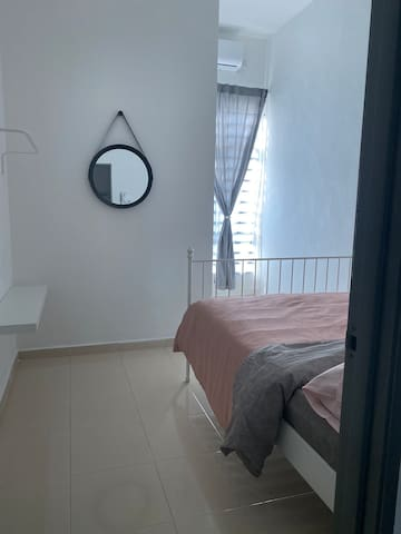 Second bedroom with air-conditioner