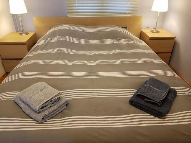 Nice bedroom with double bed in Antwerp