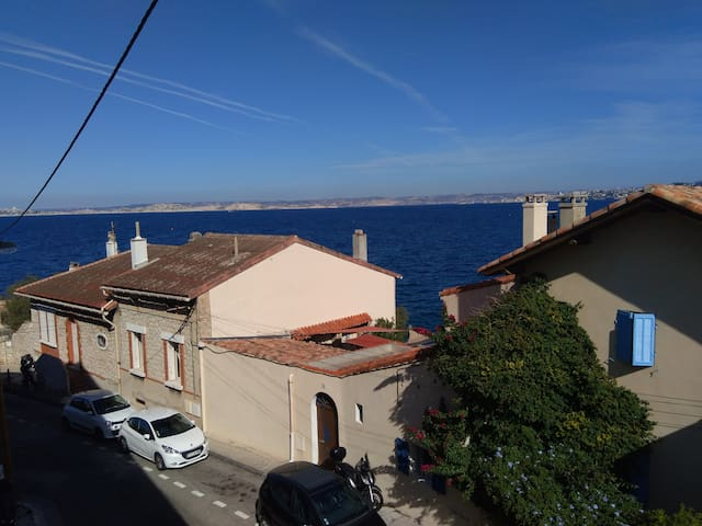 Appartement vue mer Madrague de Montredon