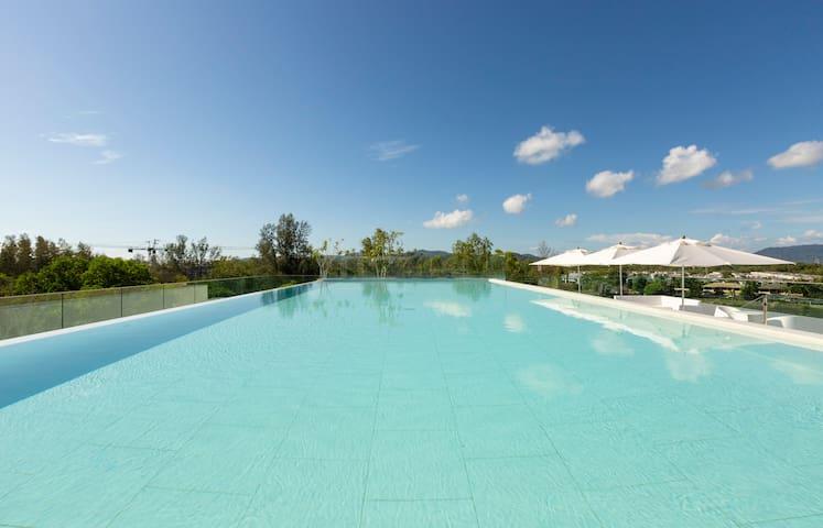 Stylish and quiet 2-BR Family apartment 90 sq.m. 2 pools ❤️ BangTao (211С)