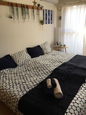 Can walk to 難波.Comfortable room.1min from station. - 大阪市 - Apartamento