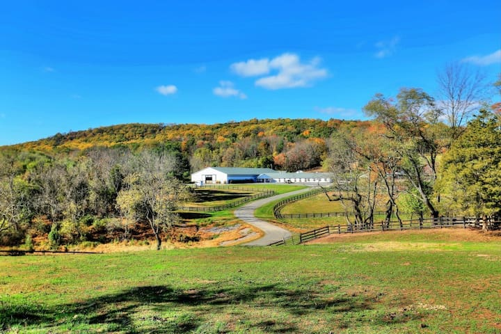 Authentic Apt getaway on picturesque horse farm.