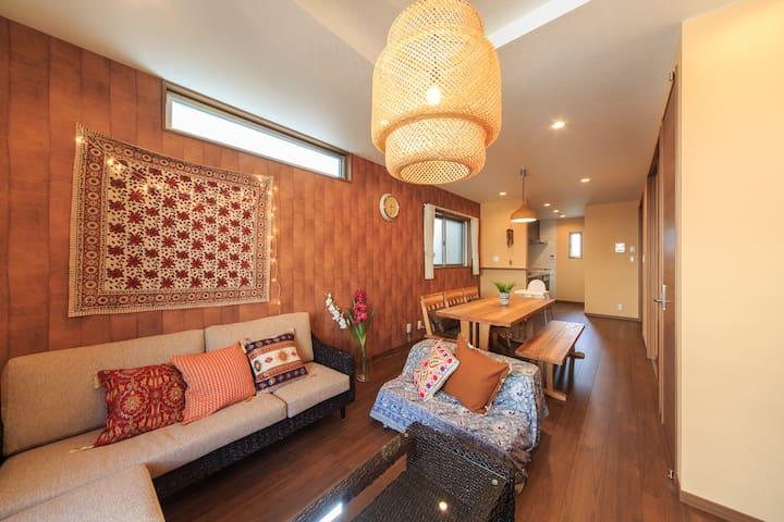 天C,NEWopen☆Asian Resort House,5min to Center:Namba
