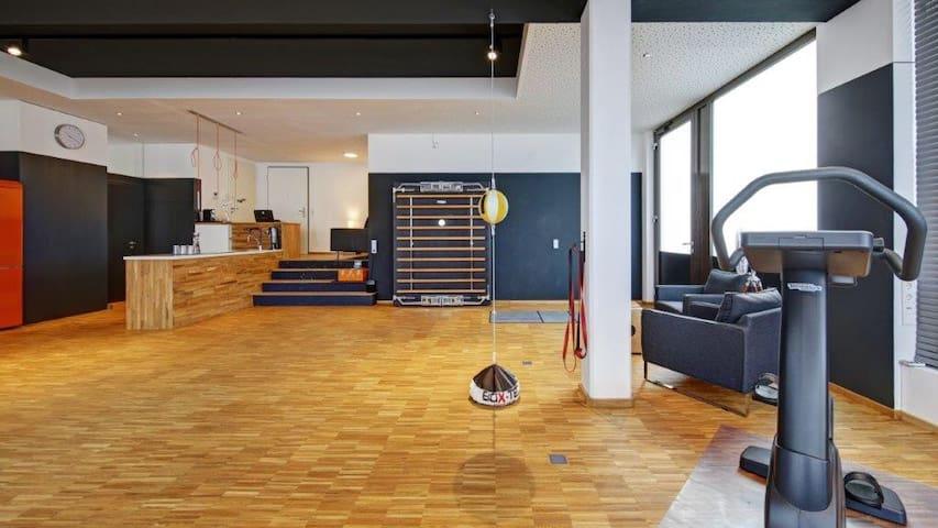 Außergewöhnliche Studio/Loftwohnung