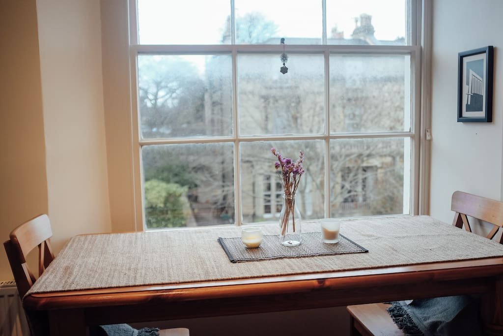 Kitchen Table with View