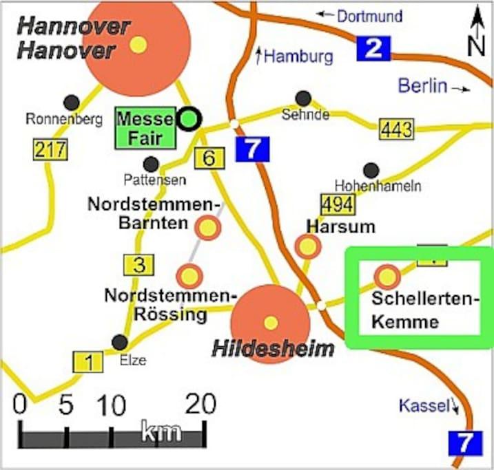 Umgebungskarte / Map