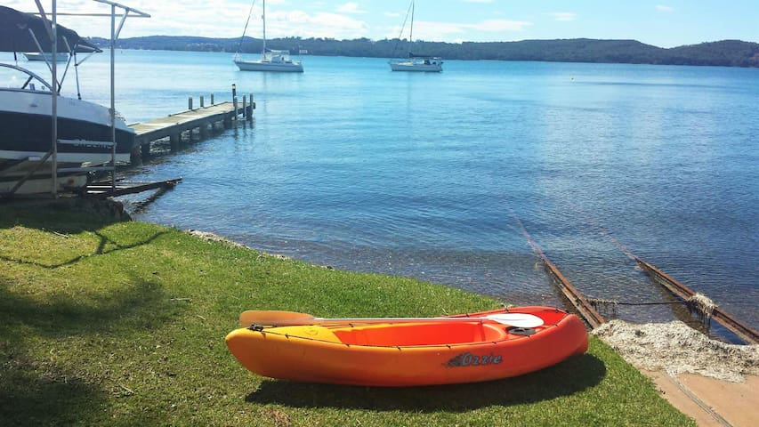 Kayaking on beautiful Lake Macquarie