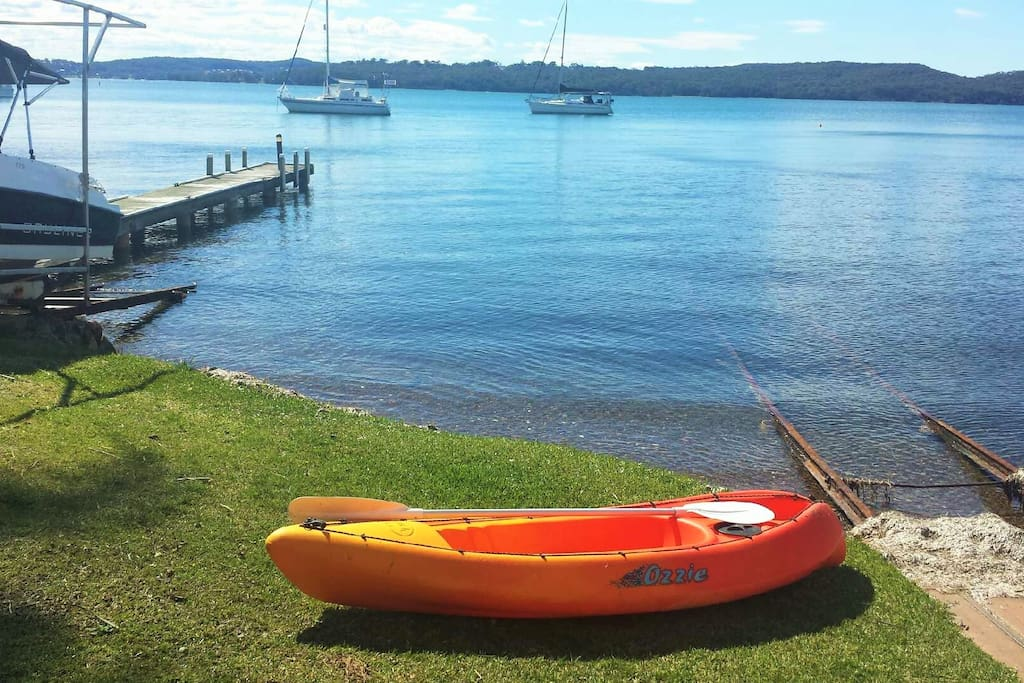 Kayaking on beautiful Lake Macquarie