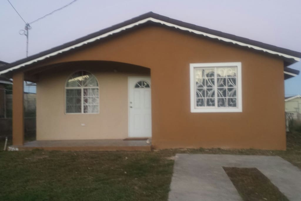 Front view of house with private parking