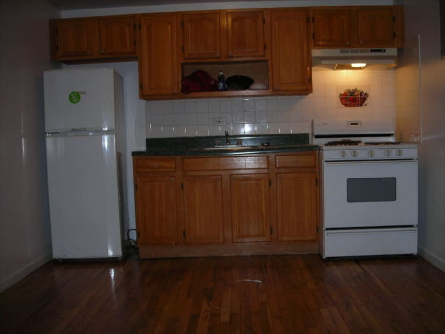 Utilities Included. Kitchen comes with coffee maker, pots, pans and utensils.
