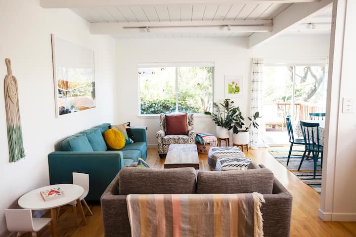 Sunny + Bright Mill Valley Home (Family-Friendly!)