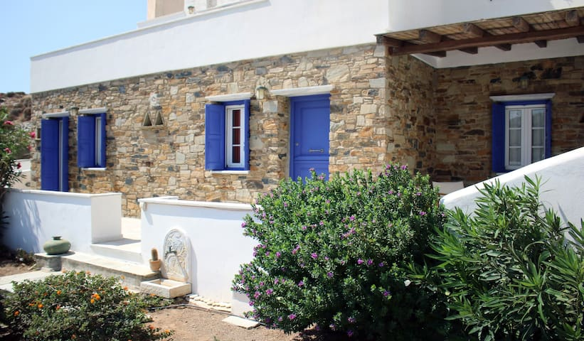 House with view at Kardiani bay,20m from the beach - Ormos Kardianis