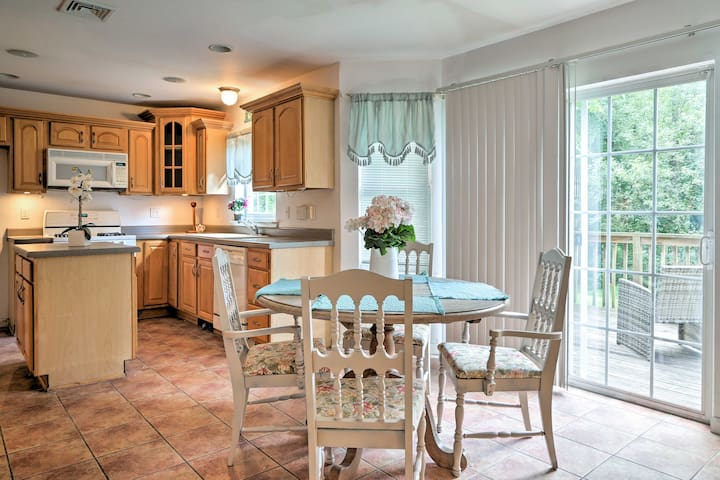 The spacious home in Monroe has a warm and inviting feel.
