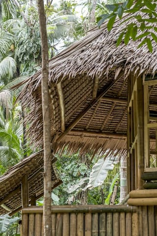 Bamboo bungalow by the river - Loboc