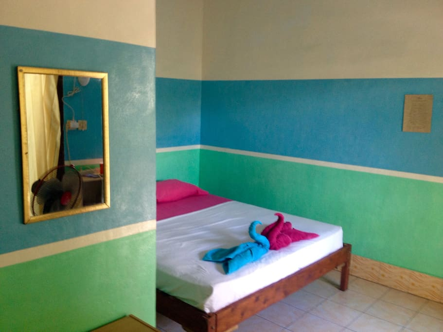 Colourful clean rooms!