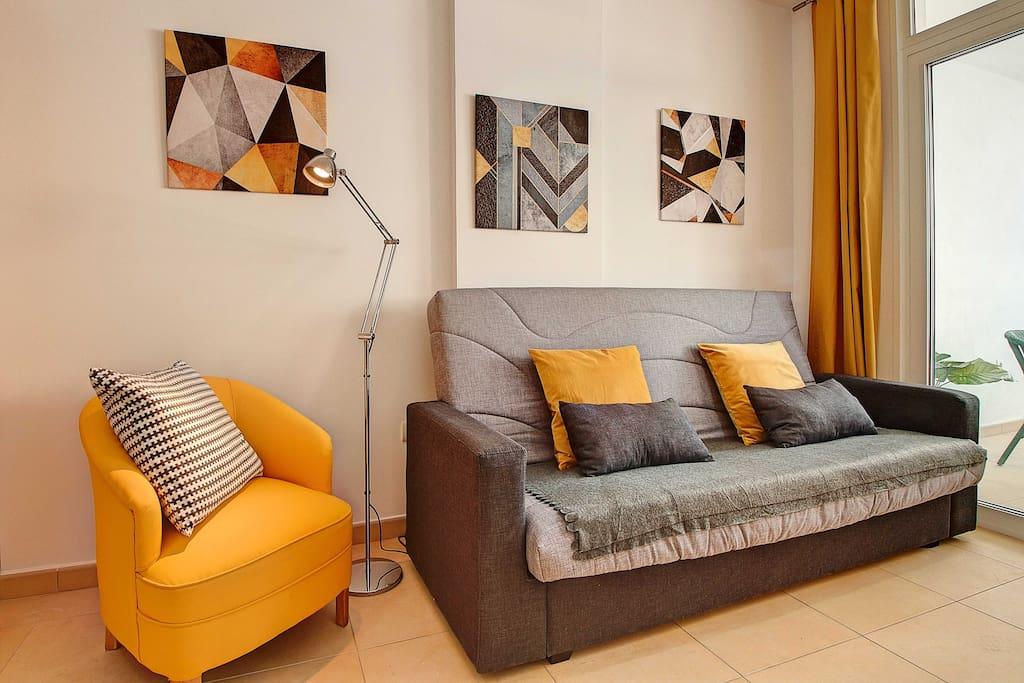 Sofa y sillón individual