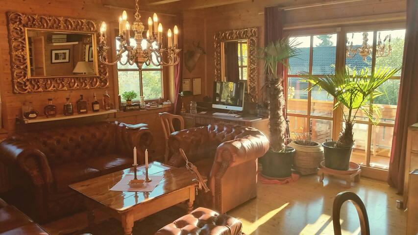 Engl. Zimmer mit Balkon & Garten im Ferienhaus - Hergensweiler