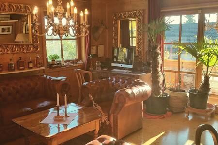 Engl. Zimmer mit Balkon & Garten im Ferienhaus - Hergensweiler - Appartement