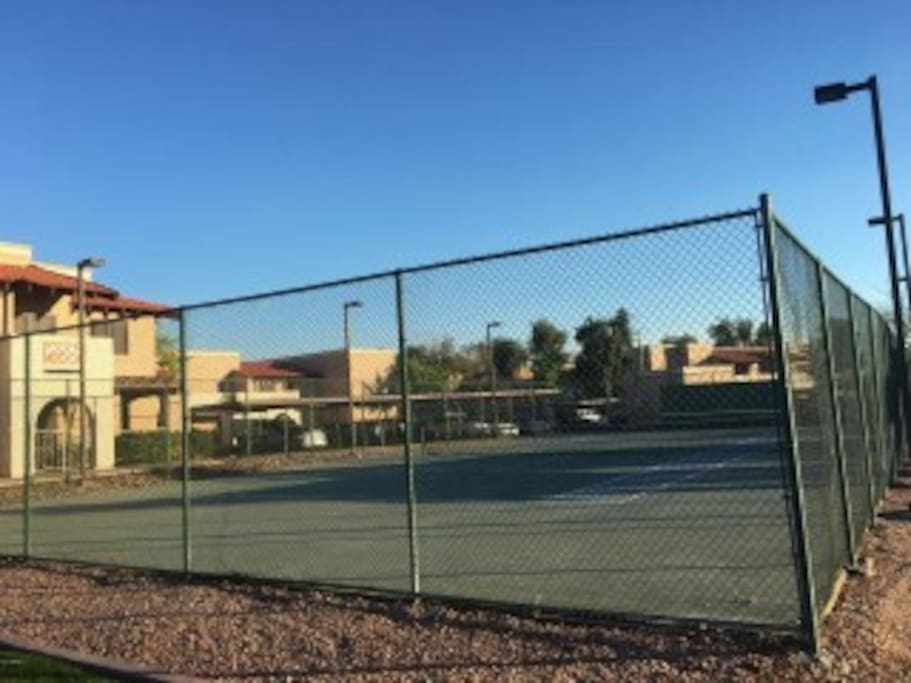 Tennis Courts right near by