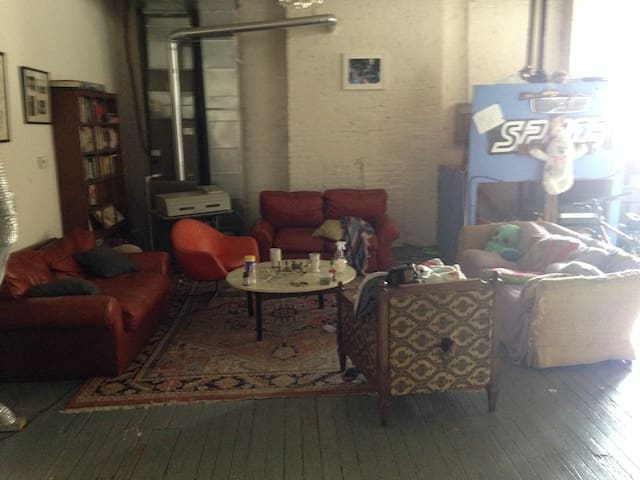 Sofa's to sleep in the common area - Baltimore - Loft