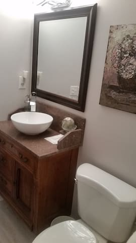 Guest full Bathroom showing sink and toilet