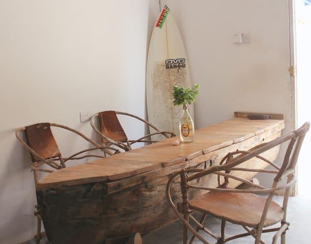 Dining area Village Apartment Zanzibar  - Paje