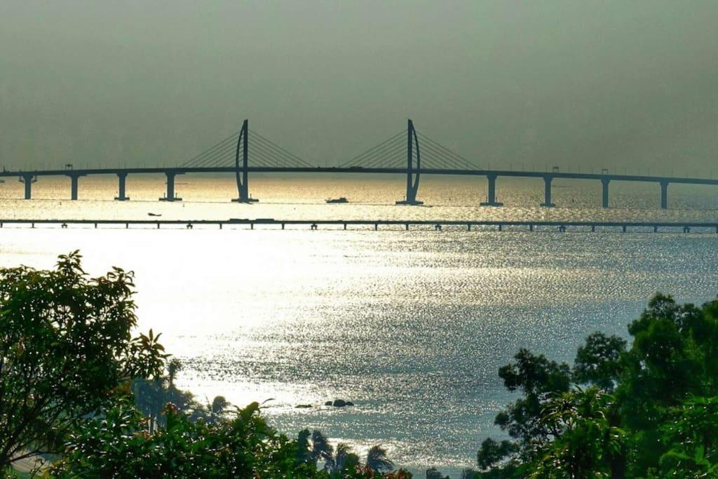 阳台实景拍摄港珠澳大桥