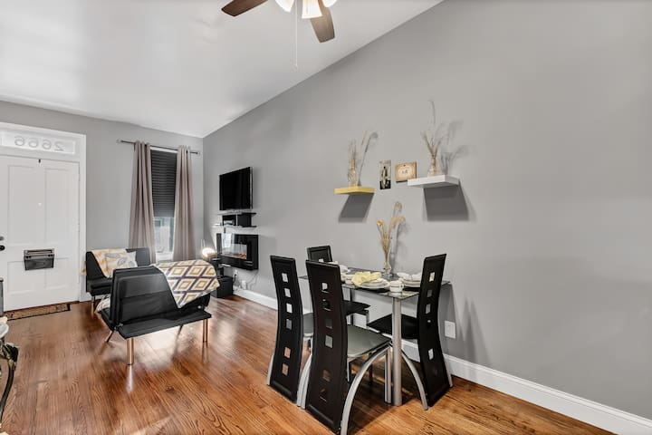 Dining: Entire dining set and utensils; electronic house manual