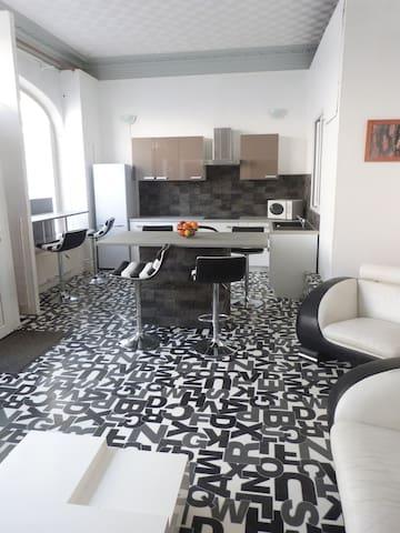bel appart.design clartif ctre vill - Reims - Loft