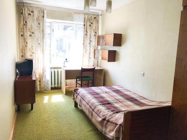 Retro soviet style room with cheerful hosts :)