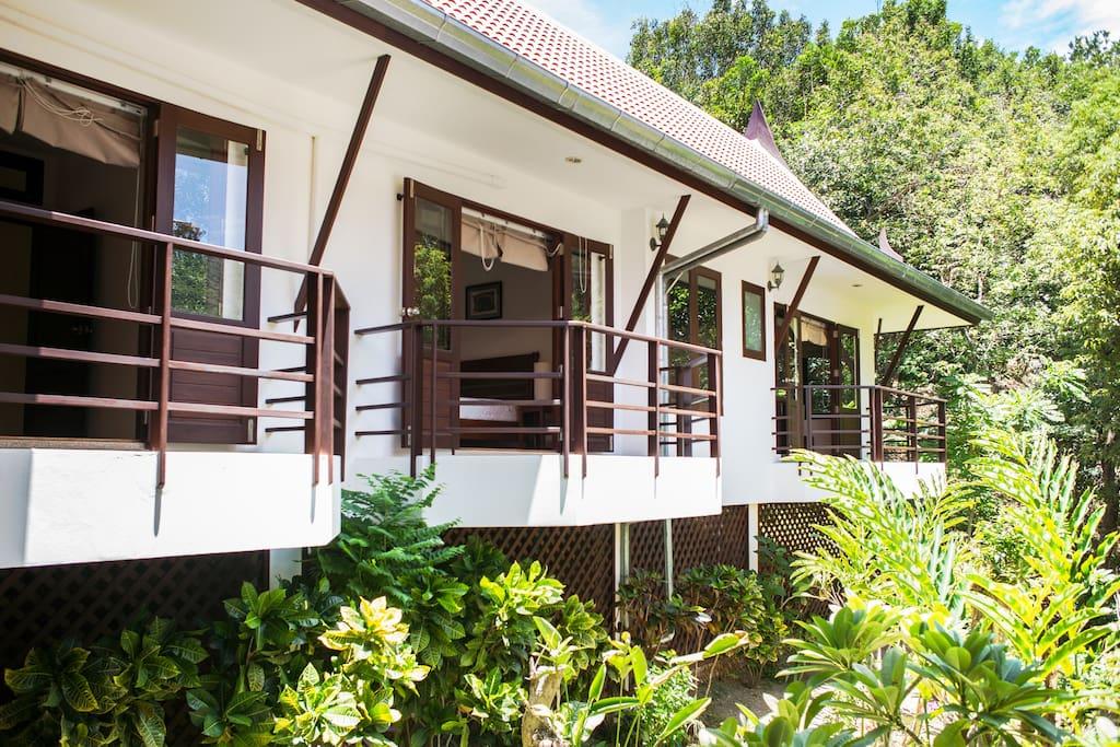 Bedroom balconies facing mountain/ sea view