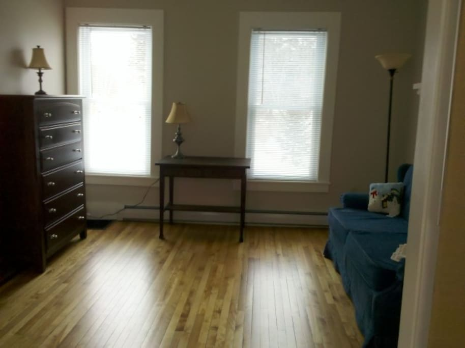 Unit One - Bedroom Two has pull out couch and can also be used as office area