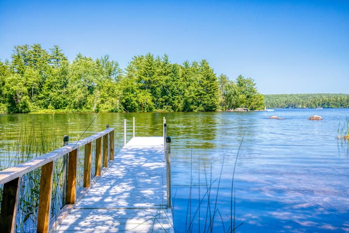 New listing! Lakefront dog-friendly cabin w/ private dock, kayaks, & firepit!
