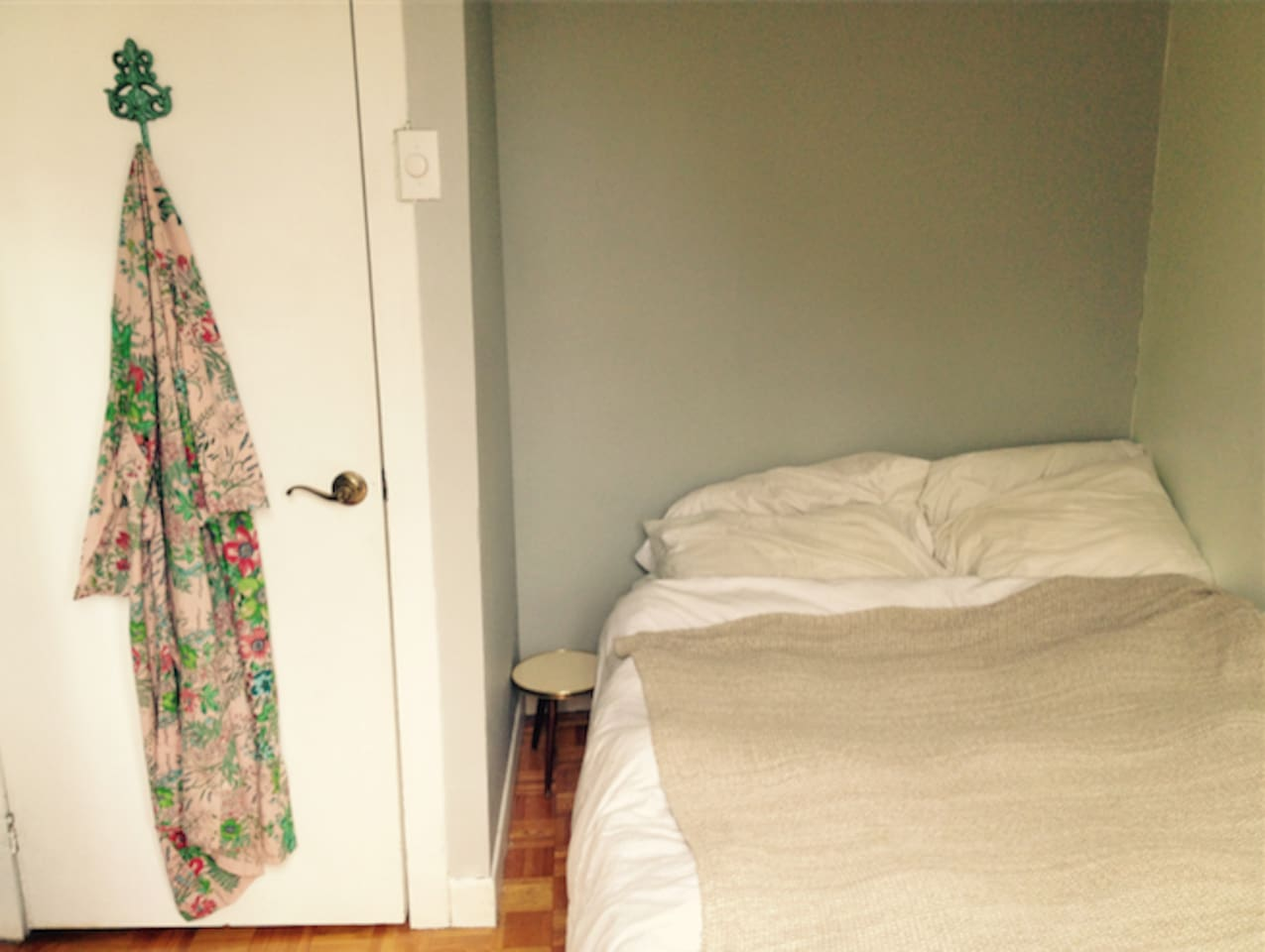 Bright bedroom with private balcony! Very comfortable, foam mattress!
