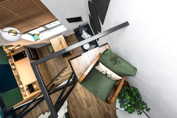 DISCOUNT ⭐️ Architectural WOW Tiny Loft ⭐️ Central