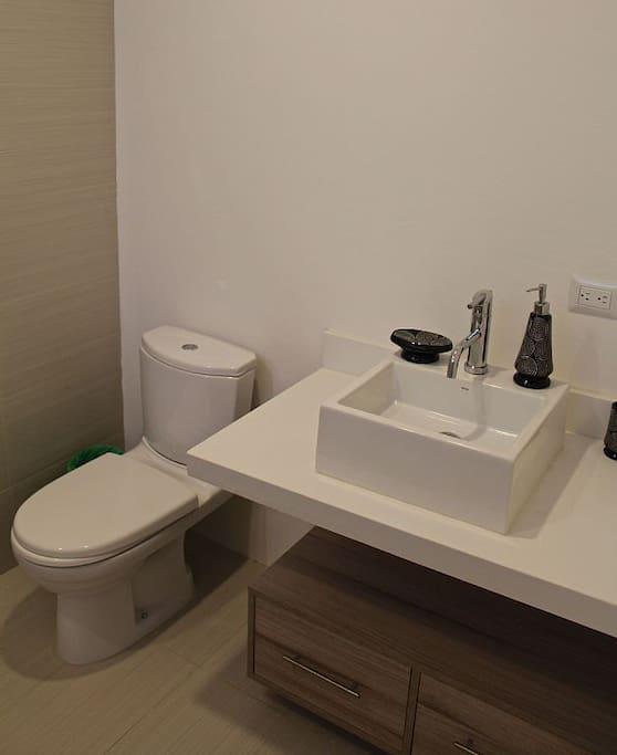 Modern, clean bathrooms