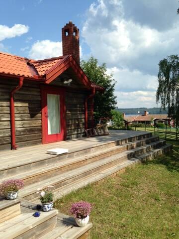 Timmerhus med sjöutsikt över Siljan - Västanvik - Huis