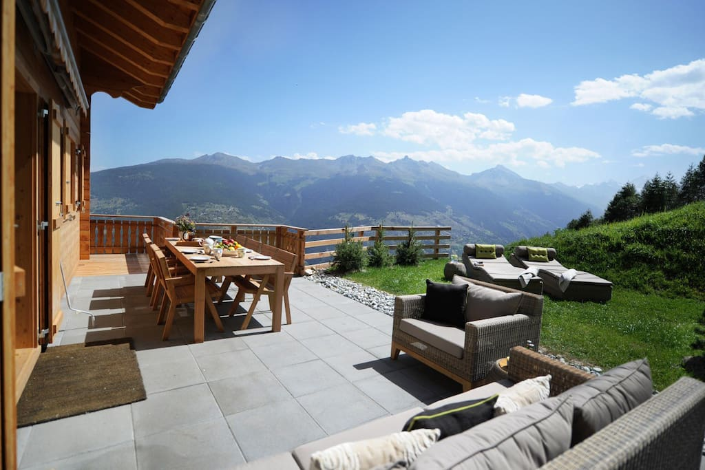 The Alps are wonderful in the Summer with almost 300 sunny days in the Valais