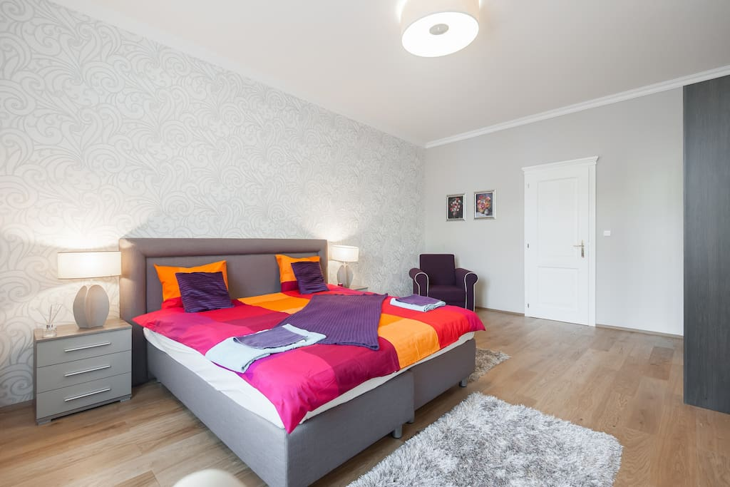 prague apartment-pragueforyou-bed room